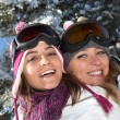 Two women ready to ski — Stock Photo #8538784