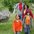 Young family hiking — Stock Photo #8538786
