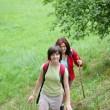 Women hiking — Stock Photo