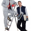 Painter and tiler - Stock Photo