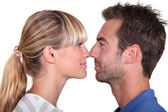 Couple stood face to face — Stock Photo