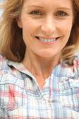 Close-up van een vrouw in haar eind dertig — Stockfoto