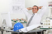 Structural engineer in office — Stock Photo