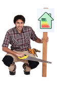 A well built house help saving energy — Stock Photo