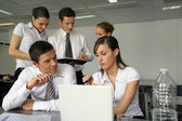 Young business team working on project — Stock Photo