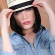 Very fashionable young woman — Stock Photo