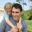 Little boy with his dad — Stock Photo