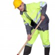 Labourer shovelling — Stock Photo #8546820