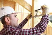 A carpenter at work. — Stock Photo