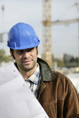 A construction foreman — Stock Photo