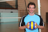 Portrait of a volley-ball player — Stock Photo