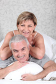 Couple in their room — Stock Photo