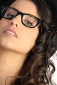 Woman wearing pair of glasses — Foto de Stock