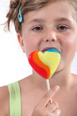 Portrait of a girl with lollypop — Stock Photo