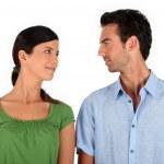 Couple making eye contact — Stock Photo