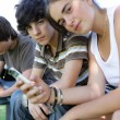 Stock Photo: Teenagers spending time together