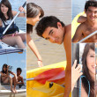 Stock Photo: Watersports themed collage