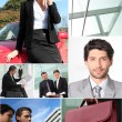 Business themed collage — Stock Photo