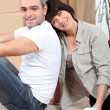 Couple moving house — Stock Photo #8553113