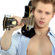 Stock Photo: Man with electric guitar