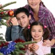 Family celebrating Christmas together — Stock Photo