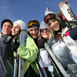 bei Wintersport-Saison — Stockfoto
