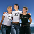 Three female friends at the coast — Stock Photo #8555512