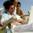Family on a summer vacation — Stock Photo