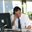 Smiling businessmtalking on phone — Stock Photo #8556623