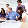 Stock Photo: Architects brainstorming