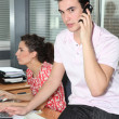 Young workers in office — Stock Photo #8556847