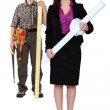 Foreman and woman architect — Stock Photo #8556990