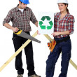 Stock Photo: Recyclable materials