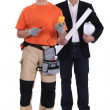 Electrician and architect — Stock Photo