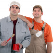 Stock Photo: Painter and decorator