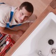 Stock Photo: Portrait of a plumber