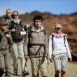 Group of trekkers — Stock Photo