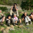 Stock Photo: Group of hikers resting