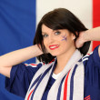 French football supporter — Stock Photo #8559757