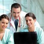 Hospital teamwork — Stock Photo