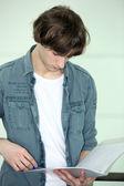 Teenager revising — Stock Photo