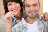 Keys to a new home — Stock Photo