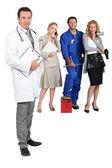Médico, mecánico, md y secretario. — Foto de Stock