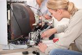 Television repairs — Stock Photo