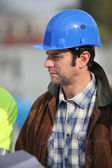 Foreman on building site — Stock Photo