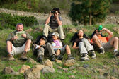 Group of hikers resting — Stock Photo