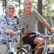 Couple biking — Stock Photo #8560447