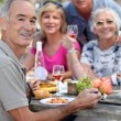 Portrait of older at picnic — Stock Photo #8560487