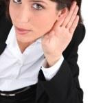 Woman listening — Stock Photo