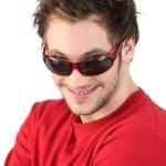 Cool man wearing singlasses — Stock Photo